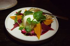 Burrata with beetroot puree @ Apero at The Ampersand Hotel