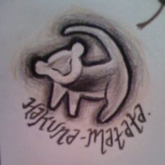 hakuna matata :) tattoo idea @Matty Chuah red stitch Anderson.. Thought you might like this