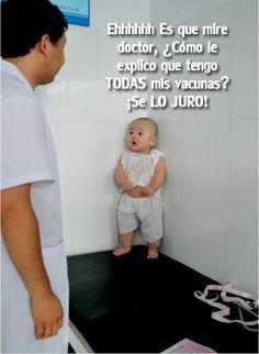 ¡Dooooctor! Tengo todas mis vacunas. #Vacunas #Meme #Risas #Chiste