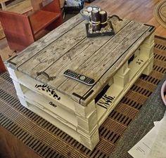 DIY et personnalisation d'une table basse en palette  http://www.homelisty.com/table-basse-palette/