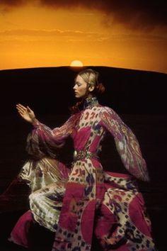 Thea Porter in Vogue - a retrospective - British Vogue, 1970 - Photo By Clive Arrowsmith
