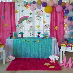 Simple Birthday Decorations, 2nd Birthday Party Themes, Second Birthday Ideas, Unicorn Birthday Parties, Girl Birthday, Rainbow Theme, Rainbow Birthday, Baby Boy Shower, Birthdays