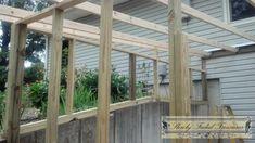 Screened-in porch build 9 Pergola Screens, Pergola Diy, Pergola With Roof, Pergola Shade, Pergola Plans, Pergola Ideas, Pergola Curtains, Modern Pergola, Metal Pergola
