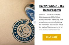 HACCP Certified – Our Team of Experts