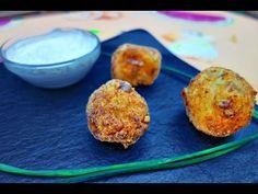 Rocas de pollo, plátano y queso con rebozado de nueces   Aperitivo ideal para fiestas   El Saber Culinario