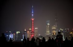 Oriential Pearl Tower in Shanghai ~Johannes Eisele / AFP / Getty Images