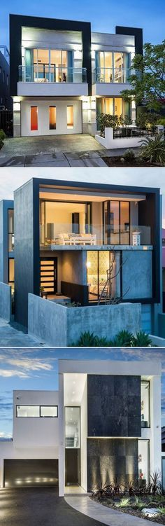 Best Ideas For Modern House Design & Architecture : – Picture : – Description beautiful house – white design Residential Architecture, Amazing Architecture, Contemporary Architecture, Interior Architecture, Contemporary Houses, Modern House Design, Duplex Design, House Goals, Exterior Design