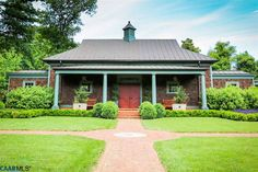It's new but a fantastic guest cottage (or carriage house, not sure which or both?) in Charlottesville, VA. Carriage House Garage, Country Estate, Old Houses, Acre, Gazebo, Home And Family, Outdoor Structures, Charlottesville Va, Building