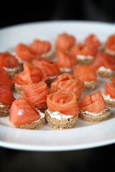 Salmon & Cream Cheese Canapes