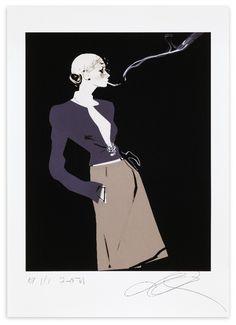 Chanel (Smoking) | David Downton #Illustration