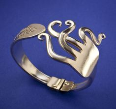 Jewelry Made Out Of Silverware | Fork Jewelry: Creative jewelry made out of forks; bracelets , pendants ...