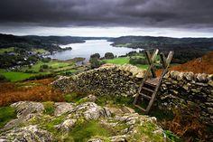landscapelifescape: Lake District, Ambleside, England lake windermere