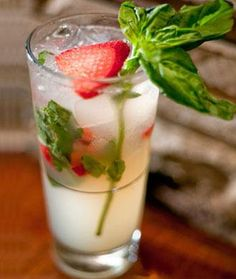 Basil-Ade: this might be the most fresh cocktail we've ever had.