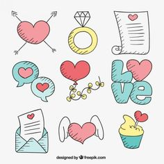 Sketch Heart Vectors, Photos and PSD files Bullet Journal Books, Bullet Journal Ideas Pages, Pastel Iphone Wallpaper, Cartoon Wallpaper, Unicorn Pictures, Doodles, Cute Corgi, Doodle Designs, Free Graphics