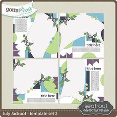 July Jackpot Template Set 2 :: Templates :: Packs :: Gotta Pixel Digital Scrapbook Store by Seatrout Scraps  $4.00