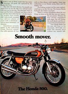 https://flic.kr/p/6Sg8bU | Motorcycle Ad | 1972 Honda 500