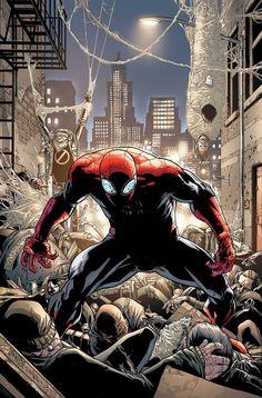The superior spiderman Ms Marvel, Marvel Art, Marvel Heroes, Marvel Characters, Fictional Characters, Amazing Spiderman, Spiderman Art, Dc Comics, Horror Comics