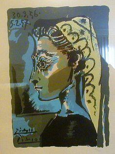 """Pablo Picasso - """"Head-woman Profile"""". 1956"""
