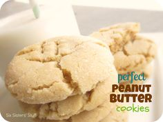 Perfect Peanut Butter Cookies from SixSistersStuff.com. Our family loves these chewy, delicious cookies! #recipes #cookies