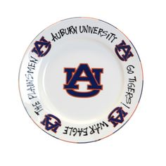 Display your pride or display your food in Auburn style with our Auburn Tigers serving plate, featuring classic Auburn sayings. Measures 10.5