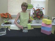 TGW TV Flower Arranging Using Rainbow Oasis - YouTube