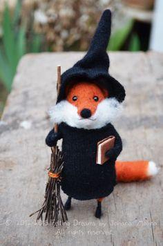 Little Witch Fox - Felting Dreams by Johana Molina - Love her darling little critters!