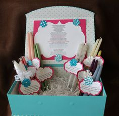 Bridal Shower Candle Box with Candle Poem for Bridal ShowerWedding ...