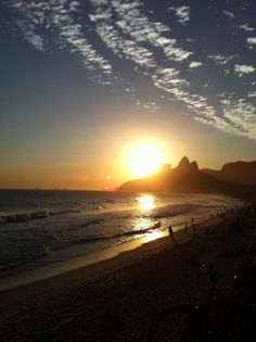 Pôr do sol Ipanema Rio de Janeiro