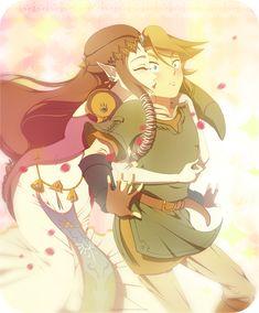 Zelda Twilight Princess: ZeLink glomp by on deviantART