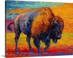 Spirit of Prairie Bison - poster print, canvas or vinyl decal