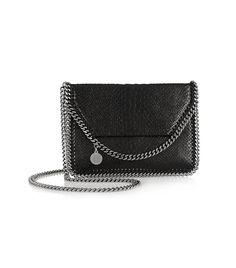 Stella McCartney The Fallabella Mini Faux Python Shoulder Bag