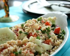 Bulgur Salad with Tuna and Tomatoes from Branny boils over site