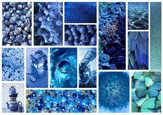 By @eleauerrea94 #board #collage #blue #azul #panel #inspiration
