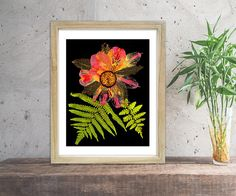 Instant Download Flower Print Gift For Her Art Print Home