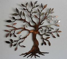 Decorate your home walls with unique metal wall décor theme Chic Olive Tree --Tree of Life Metal Wall Art Decor metal tree wall decor Outdoor Metal Wall Art, Metal Wall Art Decor, Metal Tree Wall Art, Tree Wall Decor, Tree Decorations, Metal Artwork, Deco Nature, Tree Artwork, Nature Artwork