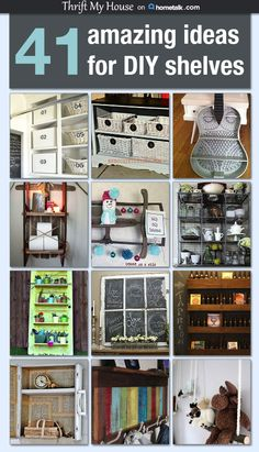 41 Amazing Ideas for DIY Shelves
