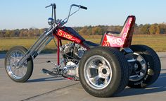 Chopper hot rod trike 77 shovel head with frankenstein trike kit