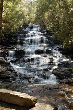Minnehaha Falls A beautiful hike to a even more gorgeous waterfall in Rabun County in the Northeast Georgia Mountains.