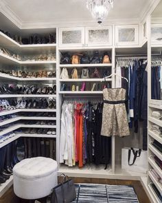 Best Walk In Closet Designs White Shelved Closet