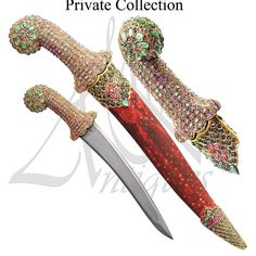 """182 Likes, 6 Comments - Mohd k (@mkantiques) on Instagram: """"Indian dagger with ruby and emerald inlaid - late 18th century. خنجر هندي بقبضة جاد عليه تطعيم…"""""""