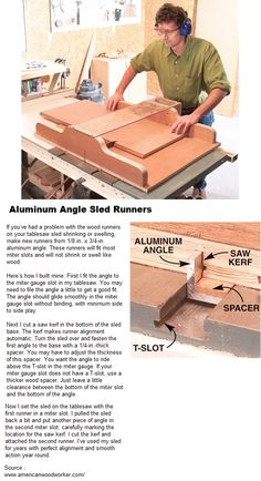 Aluminum Angle Sled Runners