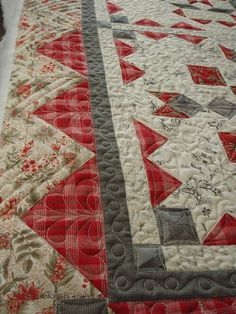 P7020029, via Flickr. (outer 2 borders quilted to appear as one)