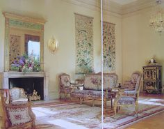 The Drawing Room at Filoli as decorated by Anthony Hail.