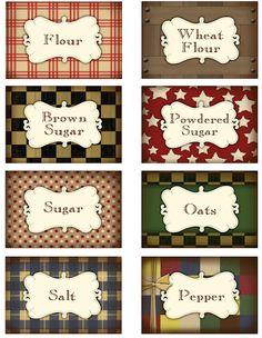 Printable Pantry Labels - Darling Doodles | Darling Doodles
