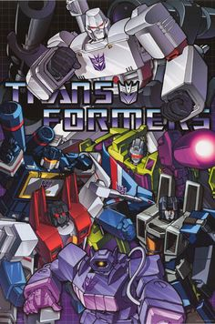 Transformers Classic Decepticons Cartoon Poster 24x36