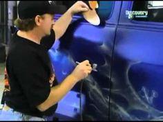 Mike Lavallee Airbrushing That 70's Van on Overhaulin with Chip Foose - www.killerpaint.com