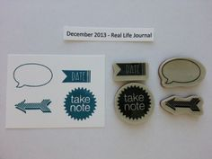 This is the stamp set that was included with the December 2013 Kit - Real Life