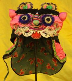 Chinese Old Hand Embroidery Child Tiger Hat