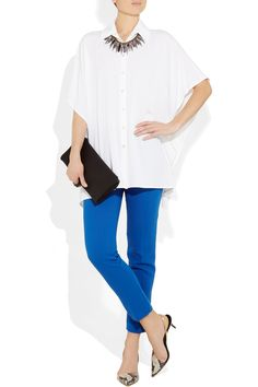 Michael Kors Shirt, $895 - love it with the statement necklace and color-pop jeans!