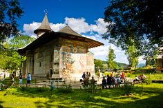 Voronet Monastery in the northern region of Romania, Bucovina Romania Map, Romania Travel, Day Of Pentecost, Mountain View, One Pic, Places Ive Been, Gazebo, To Go, Europe